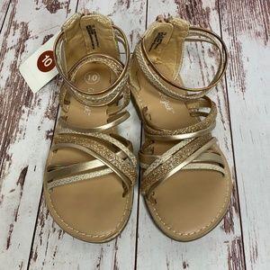 Toddler Girls' Gladiator Sandals Rosegold